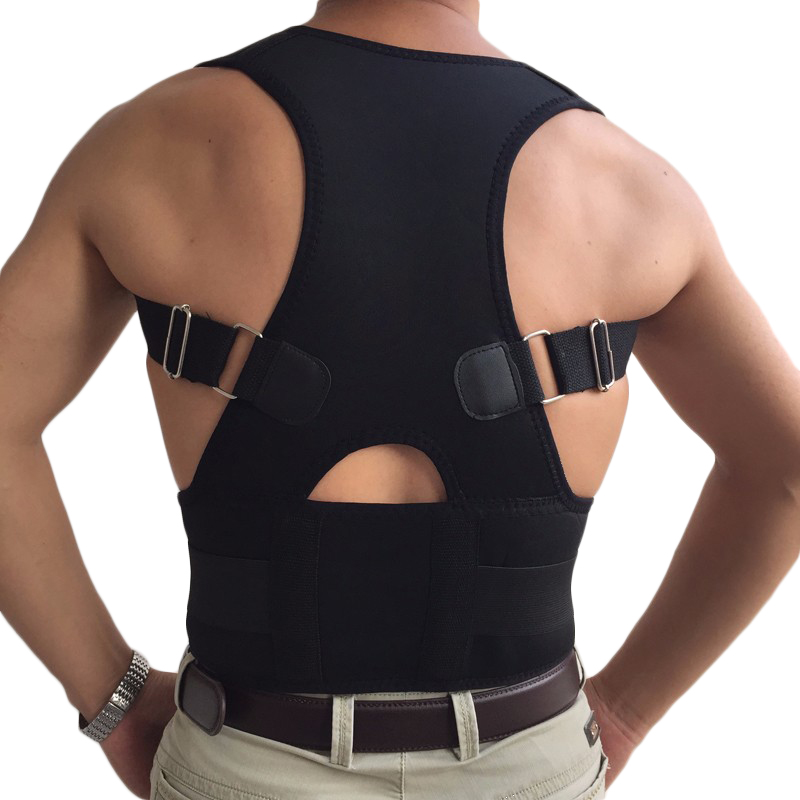 2017 Hot Sale Belly Sweat Belt Posture Brace Shoulder Back Support Corrector Men