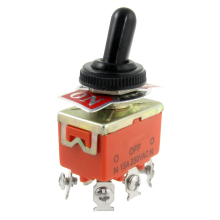 BOFO New 15A/250VAC on/off/on 3 Position DPDT Toggle Switch with Waterproof Boot