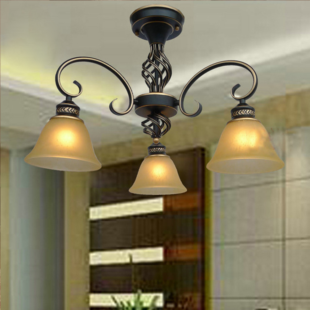European-style living room chandelier bedroom lamp creative restaurant light penthouse floor wrought iron chandelier kefu 5b20l77440 nm a804 for lenovo ideapad 110 15ibr laptop motherboard n3060 tested
