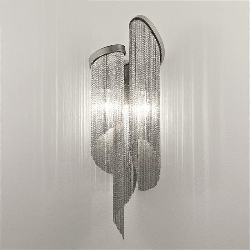 Настенный светильник Stream, классический, алюминиевый, h68см