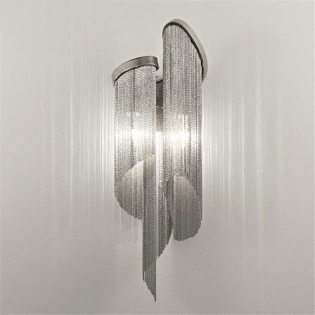Bach New Klassische Aluminium Kette Wandleuchte Luxus Kette Licht  Schlafzimmer Esszimmer Licht Hotel Licht H68CM Kostenloser