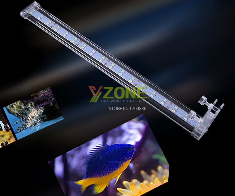 220v Clip-on Lid Crystal Aquarium LED Lighting Light With Blue And White Light For Plant and Coral Tank
