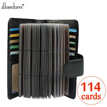 114 Slots Genuine Leather Credit Card Holder