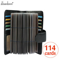 114 Slots Genuine Leather Credit Card Holder Business Card Case High Quality Bank/ID Card Holder Luxury Card Bags Large Capacity