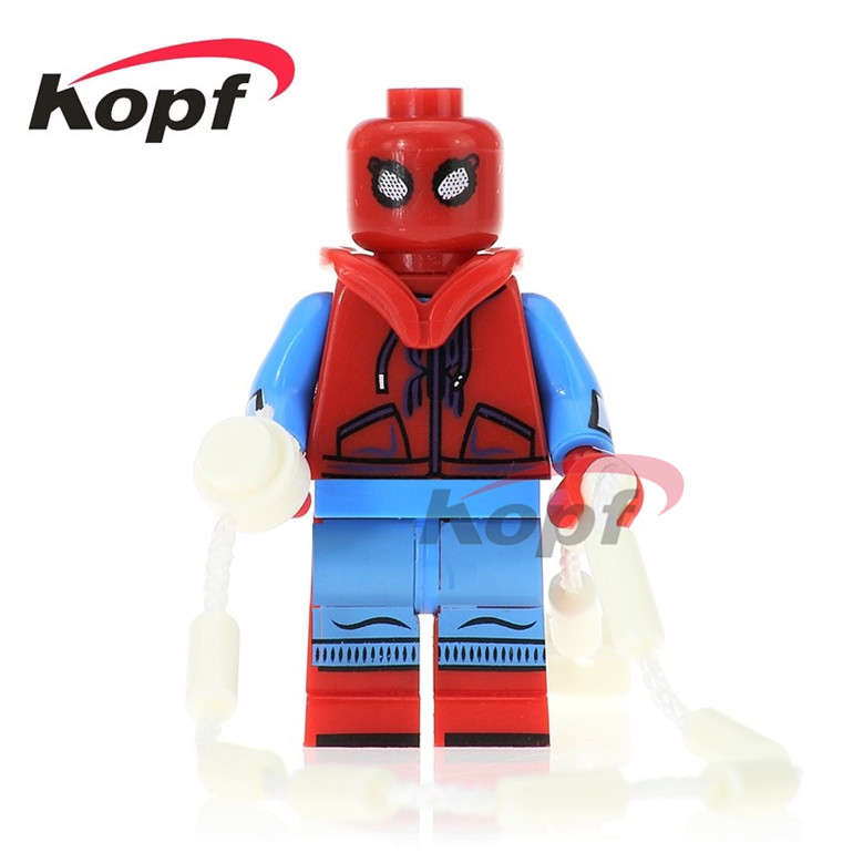 50Pcs PG260 Super Heroes Spiderman Daredevil Matt Murdoch Two Face Homecoming Spider-Man Building Blocks Best Children Gift Toys