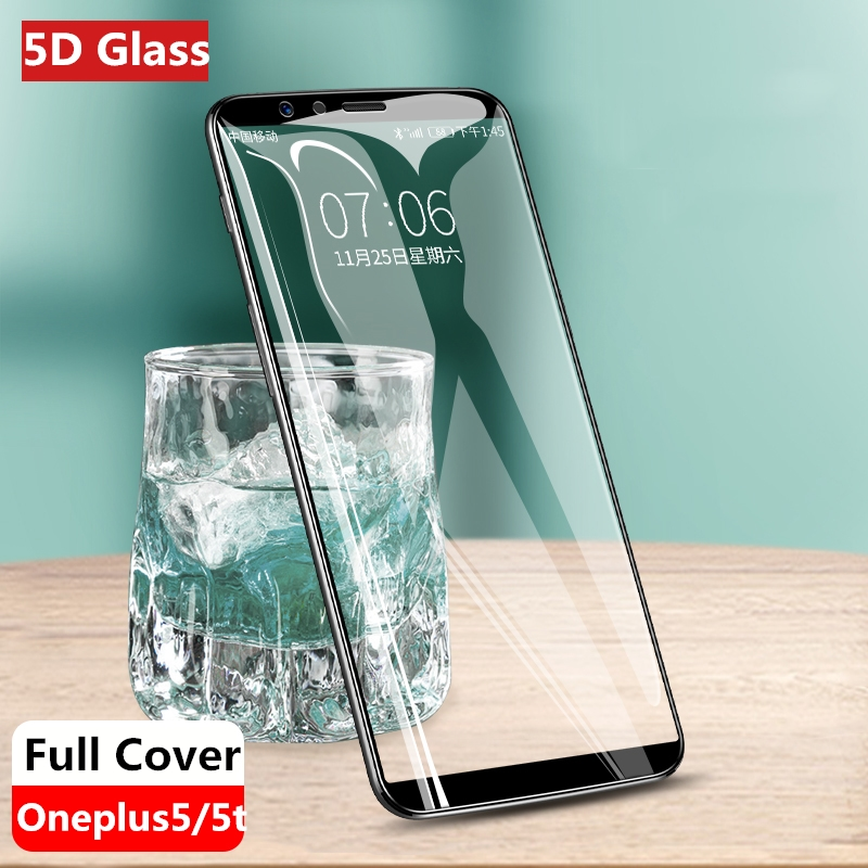 Oneplus5t 5D Glass for Oneplus 5T case for oneplus 5 T Cover 9H protective glass oneplus-5t protector one plus 5t tempered film