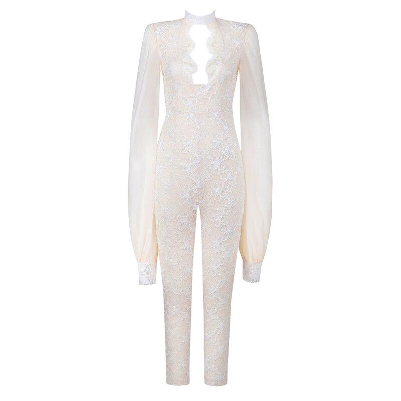 Dames Blanc Coton Keyhole Nouvelle Sexy Maigre De Designer Manches Salopette 2018 Mode En Dentelle Longues Mesh Femmes Arrivée xCTTqwXP6