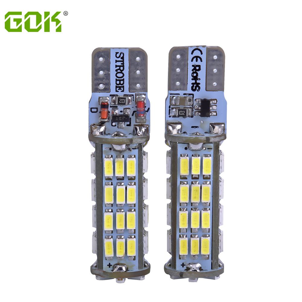 2PCS/LOT T10 led strobe high quality Strobe flash w5w LED 54smd t10 54led 3014 smd car led Light Bulbs wholesale free shipping 2pcs brand new high quality superb error free 5050 smd 360 degrees led backup reverse light bulbs t15 for jeep grand cherokee