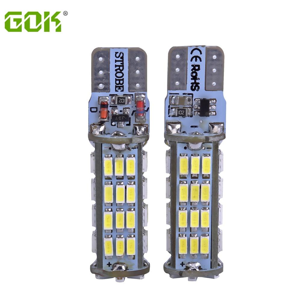 2PCS / LOT T10 led strobe բարձրորակ Strobe flash w5w LED - Ավտոմեքենայի լույսեր - Լուսանկար 1