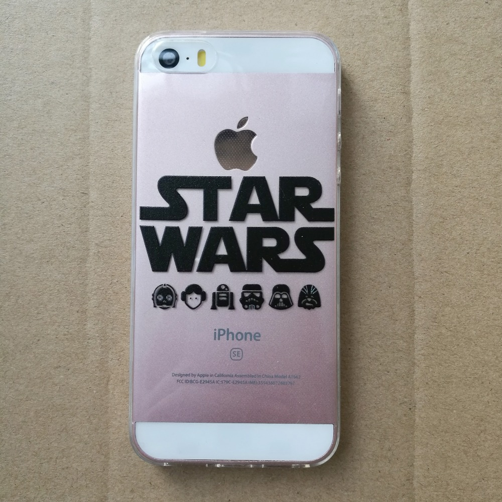 Star Wars Phone Cases Coffee Darth Vader R2D2 Coque for iphone 5 5s se 6 6s 6splus 7 7plus Silicon Transparent tpu Fundas Cover (2)