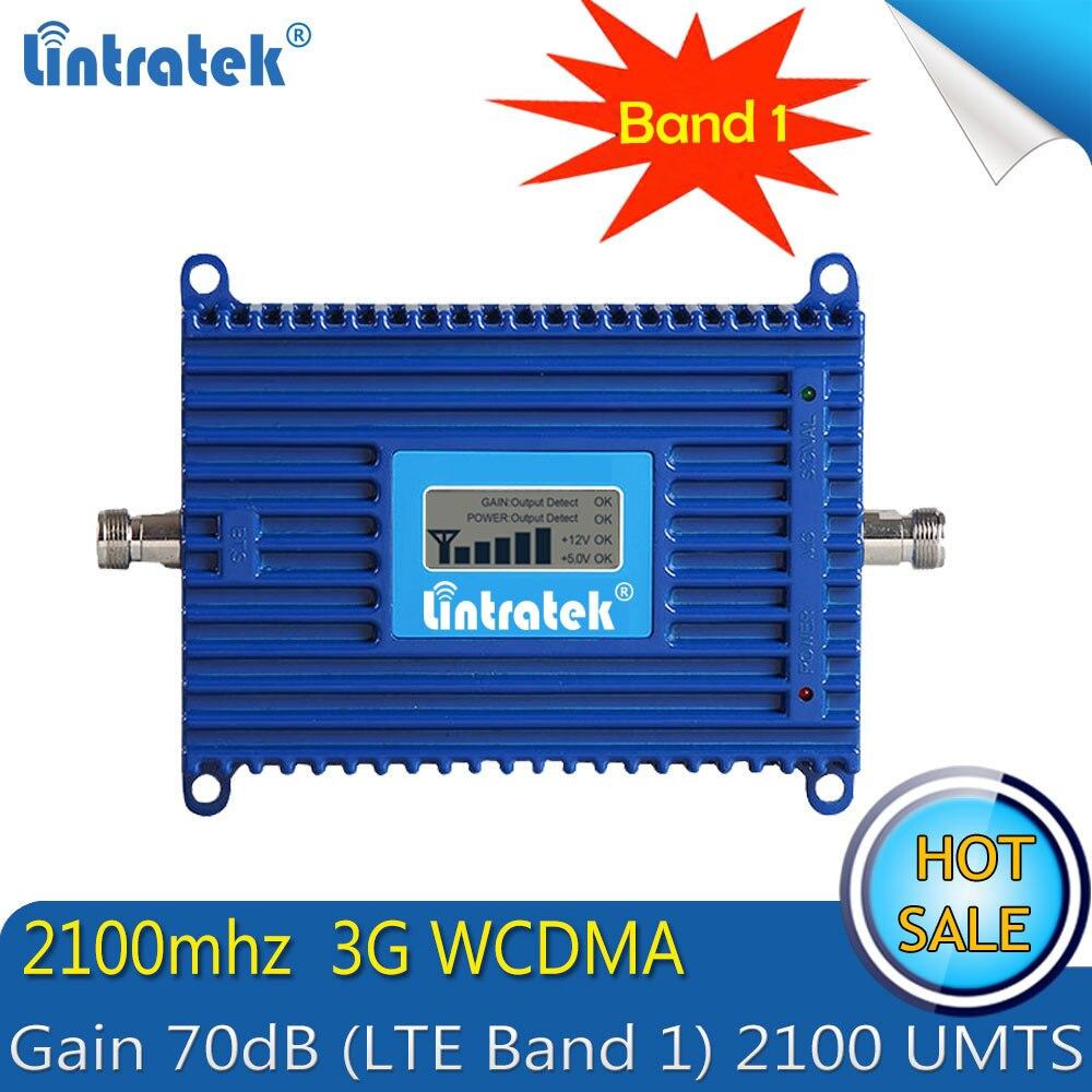 Livraison gratuite Lintratek 3G WCDMA 2100 MHZ amplificateur de Signal de téléphone portable GSM 3G 2100 UMTS amplificateur de répéteur de Signal