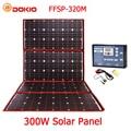Dokio 300W 18V Flexible plegable del Panel Solar del alta calidad portátil del Panel Solar de China para Camping/barco/ RV/viaje/hogar/coche