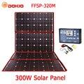Dokio 300W 18V Hiqh Qualidade Portátil Painel Solar Flexível Dobrável Painel Solar China Para Camping/Barco/ RV/Viagem/Home/Carro
