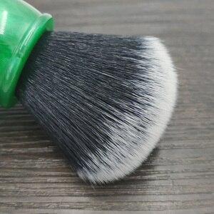 Image 3 - Escova de barbear sintética do cabelo do smoking de dscosmetic 26mm com punho da resina