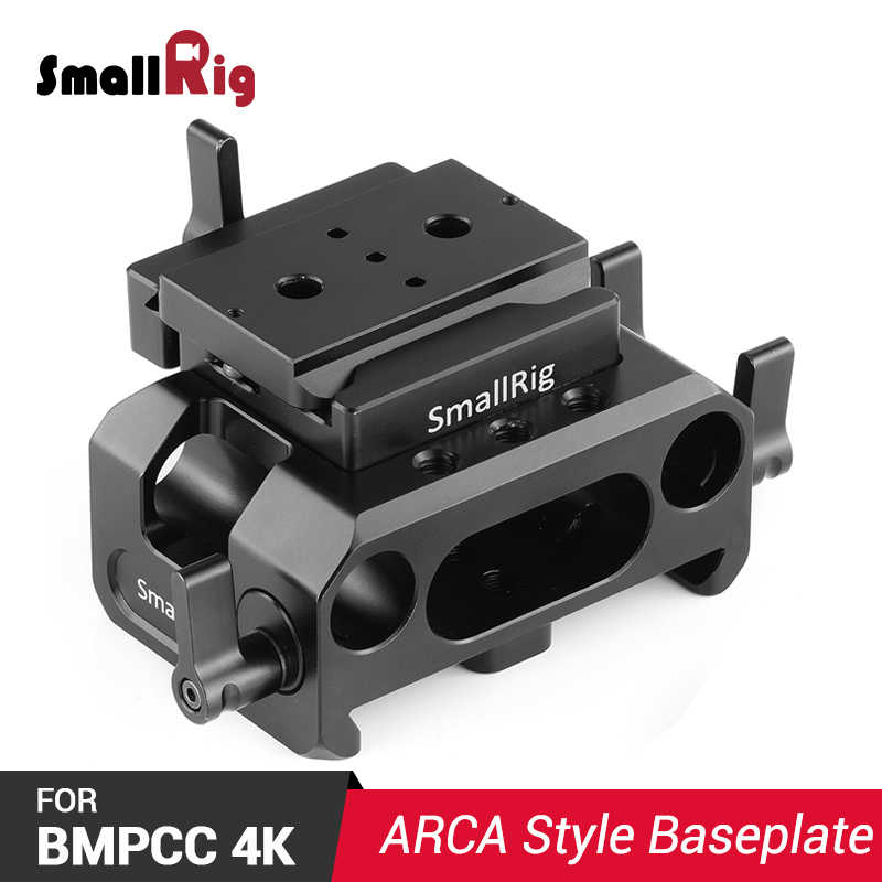 Smallrig Bmpcc 4k Camera Plate Baseplate For Blackmagic Design Pocket Cinema Camera 4k Arca Compatible With 15mm Rail Rod 2261 Tripod Monopods Aliexpress