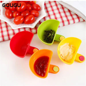 Bowl Tableware Ketchup Saucer Kitchen for Cup 4 Sugar-Salt Vinegar 4pcs/Lot Dip-Clip
