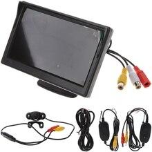 цена на IR LEDs Night Vision 5 Wireless TFT-LCD+Car Rear View Monitor Reverse Backup Camera NTSC/PAL Set