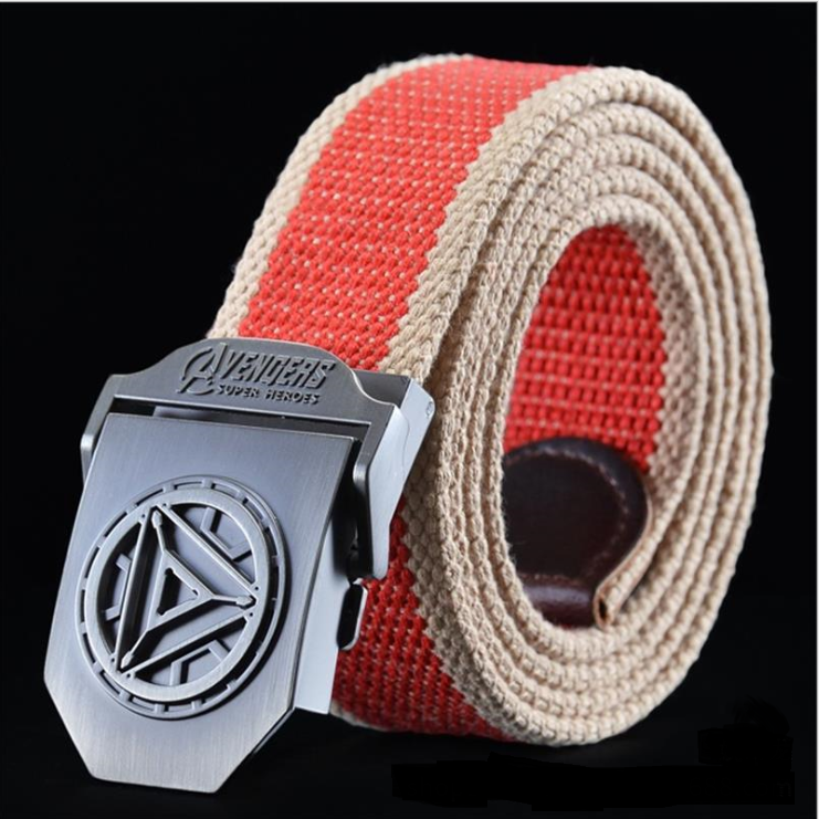 2016 NEW anime movie Avengers canvas Belt Iron Man/Captain America/Thor cartoon belt designer belts men high quality men belt image