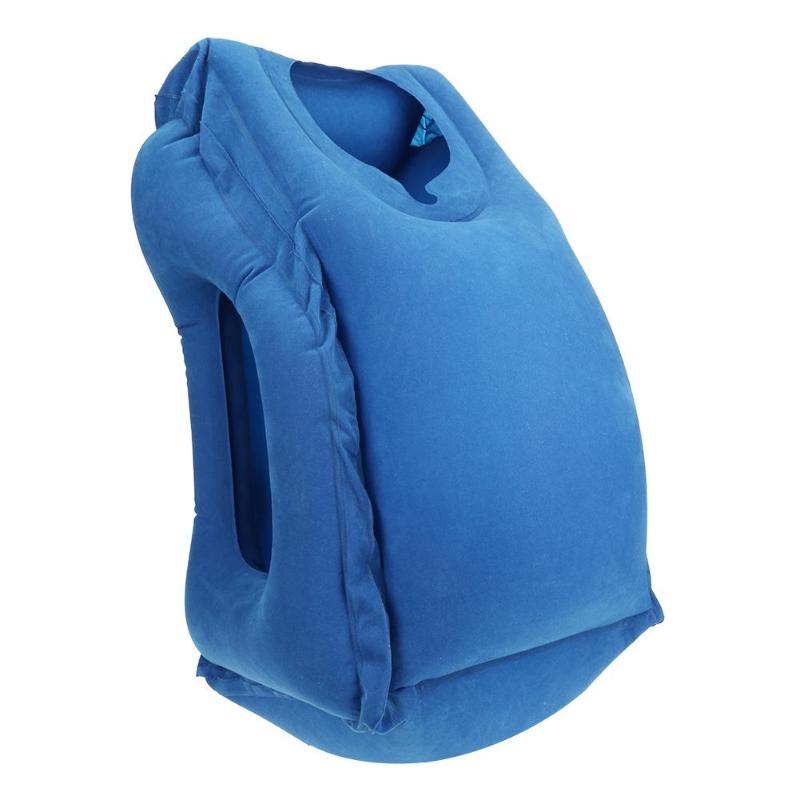 HTB1ggyTc56guuRjy0Fmq6y0DXXah Inflatable Travel Office Pillow Air Soft Cushion Trip Portable Innovative Body Back Support Foldable Blow Neck Protect Pillow