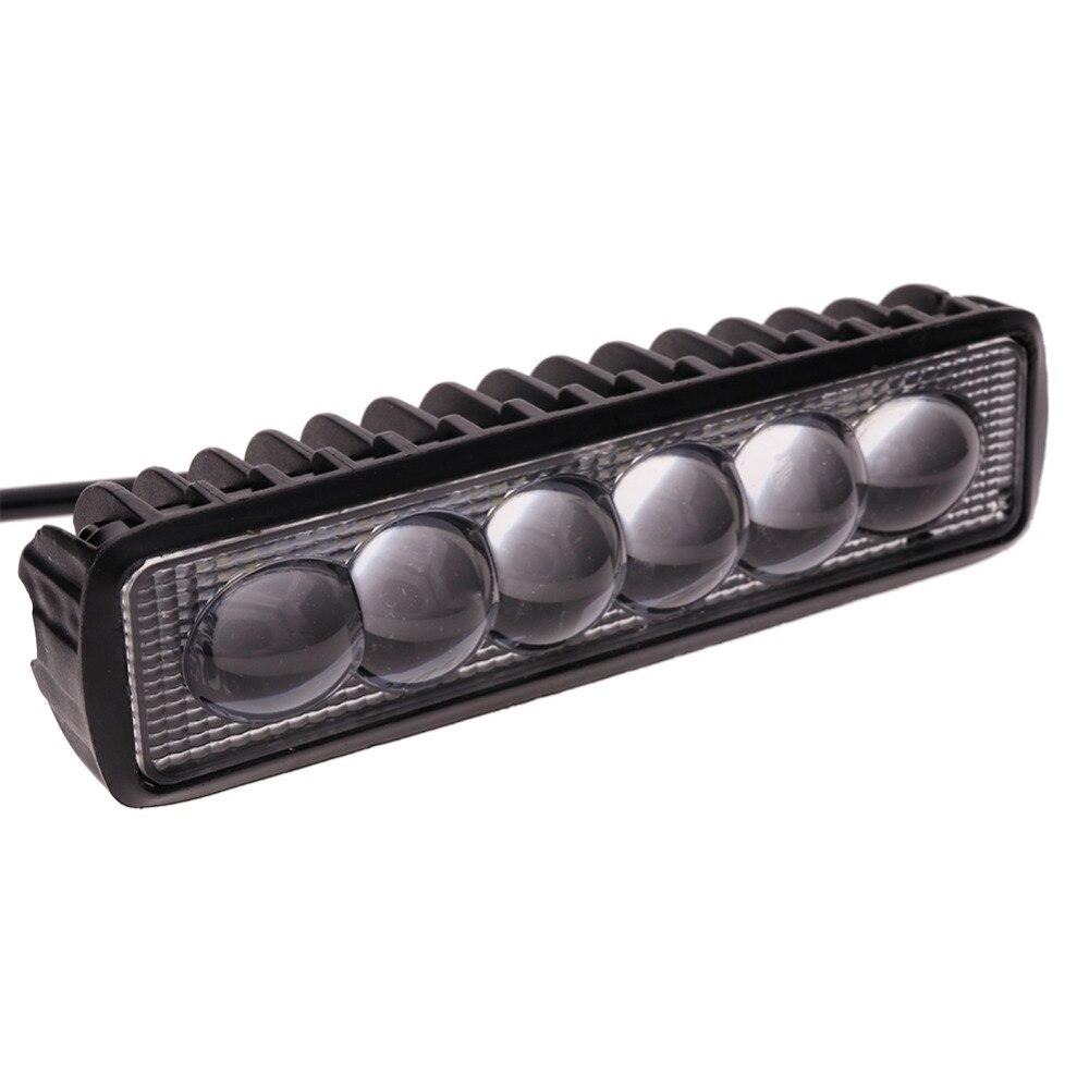 Bostar 18 w LED Lumière Bar Slim Light Work Spot Faisceau de Route Brouillard Lumière Route Éclairage pour Voiture Camion SUV bateau Marine Jeep #279599