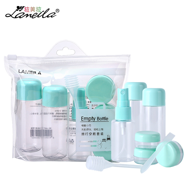 LAMEILA Travel Bottle with Spray bottle Refillable Essential Oil Jar Portable Empty Atomizer Shampoo Cream Cosmetics Container double travel bottle container with comb