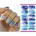 2016 Hoja de Uñas de Transferencia de Agua Etiqueta Engomada Del Arte de Navidad Copo de Nieve de Diamantes de Flash Diseños Nails Pegatinas Decoración Tatuajes de Manicura K5726B