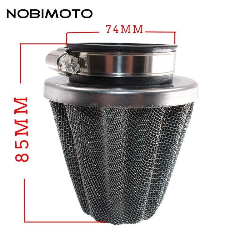 NOBIMOTO Air Filter Mushroom Head 32 35 38 42 45 48 50 60MM Motorcycle Cleaner For Honda Kawasaki Yamaha Scooter KL-005