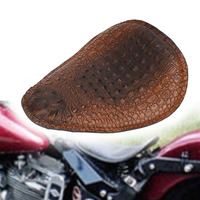 Faux Leather Motorcycle SOLO Seat Cushion for Harley Sportster Dyna Fatboy for Honda Yamaha Universal Driver Seat #MBJ077