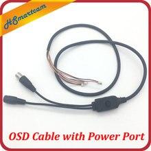Câble OSD avec Port dalimentation + Port vidéo + Port de Menu OSD pour carte CCD
