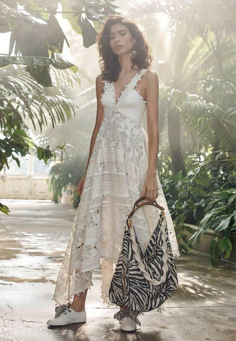 2019 New Style Women Strap Dress Embroidered Openwork Irregular Lace Dress Lady Sexy Stitching Party Dresses