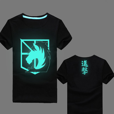 Anime Attack on Titan Tops Fluorescent T shirt