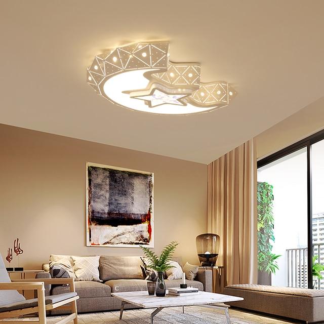 Satr/mond Moderne Led Decke Kronleuchter Lichter Für Schlafzimmer Kinder  Kinder Zimmer AC85 265V