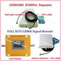 Conjunto completo 70dBi Ganho Reforço de Sinal de Telefone Móvel 3G GSM CDMA 850 MHz GSM Repetidor de Sinal de Telefone Celular Amplificador de Sinal com Antena