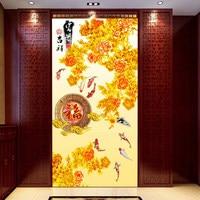 Chinês de vidro filme janela fosco etiqueta de papel celofane auto-adesivo adesivos de parede do banheiro opaco deslizante porta adesivos