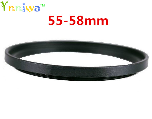 55-58mm Metal Step Up Rings Lens Adapter Filter Set