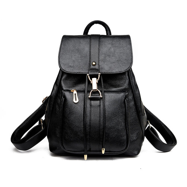 b5691d707ac4b0 New Luxury Women Leather Backpack School Bags For Teenagers Girl's Designer Travel  Bag Vintage Women Backpacks Mochilas Escolar