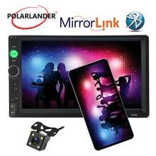 7010B 2 DIN Auto radio 7 Pollici Bluetooth FM USB AUX IN supporto Telecamera per La Retromarcia MP3 MP5 Giocatore Dello Schermo di Tocco specchio Link HD