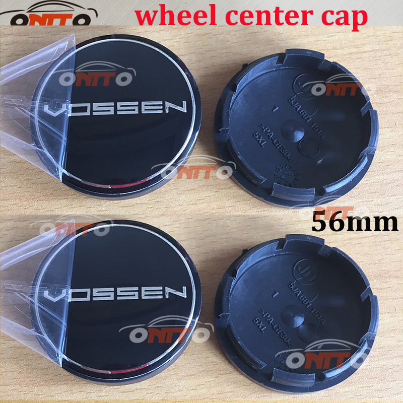 Car styling 4pcs/lot 56mm Black Car Custom Alloy ABS Rim Wheel Hub Hubcaps Center Center Caps Cover for vossen car emblem badge-in Wheel Center Caps from Automobiles & Motorcycles