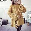 2017 Spring Women Sweater New Fashion Knitted Pullovers High Quality Hole Sweaters Long Sleeves Pull Femme Sweter Mujer SZQ112