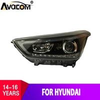 AVACOM автомобильный Стайлинг светодио дный фары сборки для hyundai IX25 2015 2016 светодио дный фар сигнала DRL Plug And Play комплект с течет
