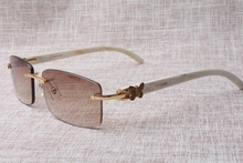 Sizzling promoting 2017 new model males's 3524012(A) white Cattle horn sun shades, measurement: 58-18-140 mm