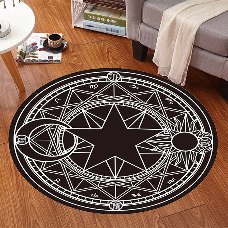 2017 High Quality Acrylic Captain Round Rugs Living Room Doormat Cartoon Carpets Door Floor Mat for Bedroom Carpet Kids Room