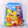 New Plants vs Zombies Drawstring Boys Girls Cartoon School Bag Children Printing School Backpacks for Birthday Party Gifts