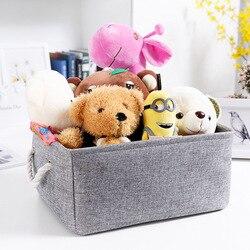 WHISM Large Storage Basket Laundry Basket For Toy Washing Basket Dirty Clothes Sundries Storage Baskets Box Handle Organizer