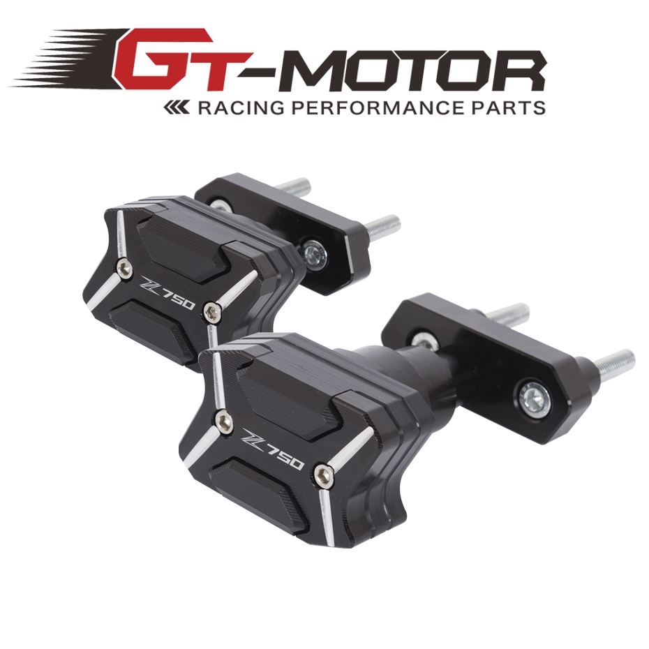 GT Motor - 2017 NEW CNC Aluminum Left and Right Motorcycle Frame Slider Anti Crash pads Protector For KAWASAKI Z750 2013-2015 цена и фото