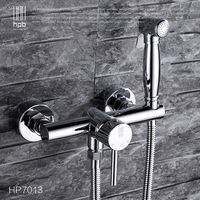 Brass Hot And Cold Water Mixer Bathroom Toilet Portable Spray With Shower Holder Handheld Bidet Grifo