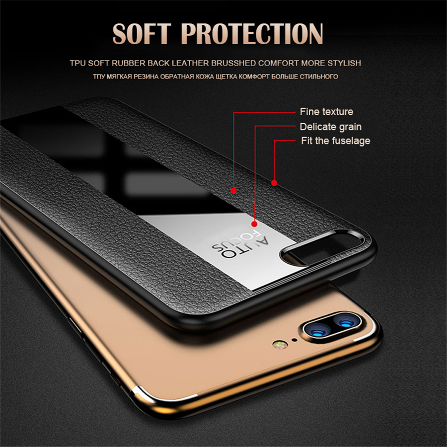 For iPhone 6 6s 7 8 Plus coque Porsche Leather Phone Case For iPhone XS Max XR X Frosted Matte TPU Soft Cover Case in Fitted Cases from Cellphones Telecommunications
