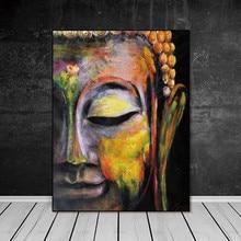 Настенные художественные картины холст живопись Домашний Декор настенный плакат для декора для гостиной печать яркое лицо Будды на холсте без рамки