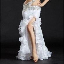 Gorąca wyprzedaż! Spódnica do tańca brzucha kobiety ubrania do tańca brzucha spódnica dziewczyny brzuch spektakl taneczny spódnica 9 kolorów lady dance spódnica