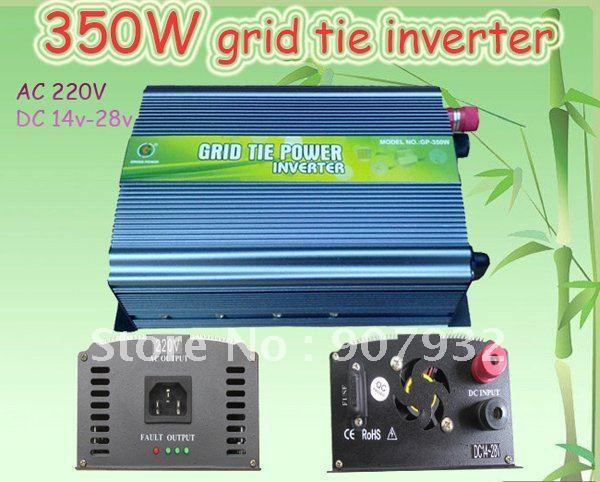 350W Grid Tie Inverter 14V-28V DC, 220V AC(350 watt, High Efficiency, Free Shipping)